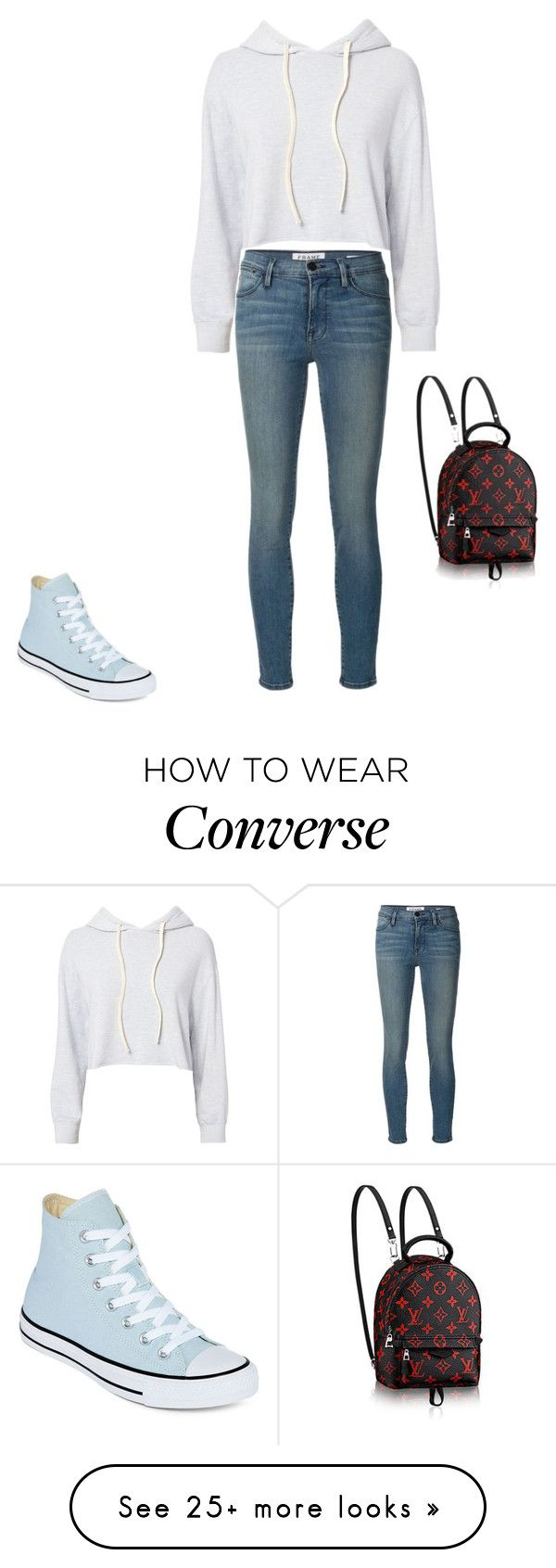 """""""Untitled #16750"""" by explorer-14576312872 on Polyvore featuring Monrow, Frame and Converse"""