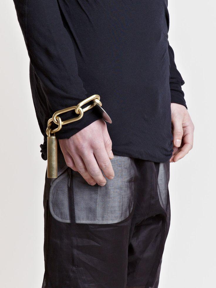 Rick Owens Carved Link Bracelet