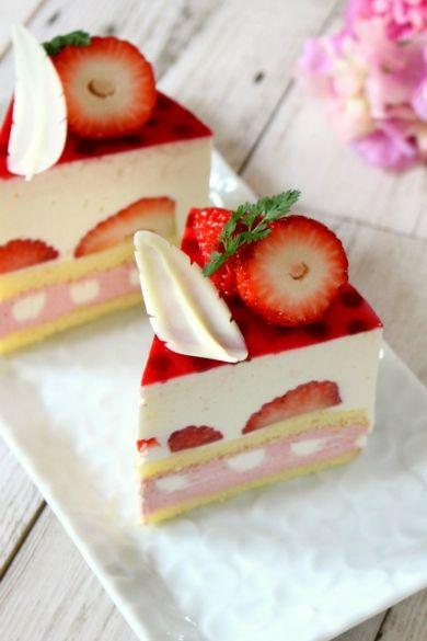 「苺のレアチーズショートケーキ」ナナママちゃん   お菓子・パンのレシピや作り方【corecle*コレクル】