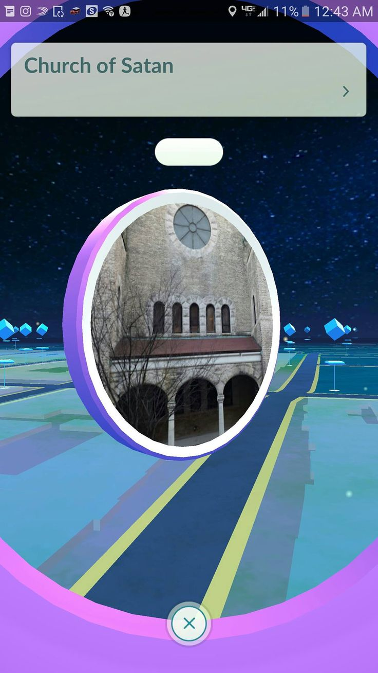 """Pokemon Go Wasnt' Kidding About """"Exploring The World Around You"""" >> I mean there's ton of poke stops at churches, so why not the church of Satan? I mean I can take a 2 minute walk to the church at the end of my street and boom pokes top"""