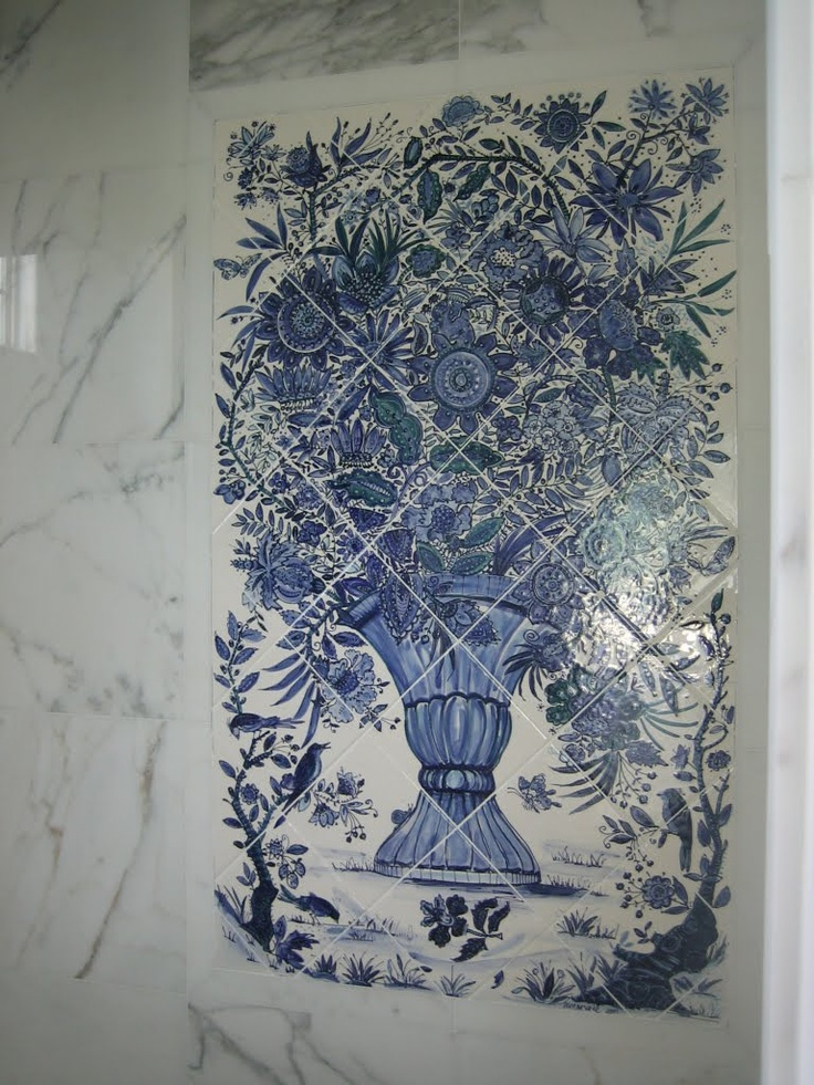 1000 images about tile murals on pinterest for Delft tile mural
