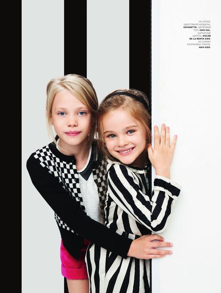 VOGUE Kids September 2013. Models Alisa & Sofia #vogue #voguekids #editorial #magazine
