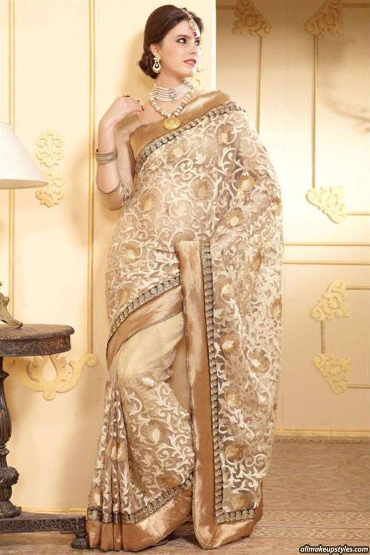 golden-kundan-net-saree.jpeg (866×1300)