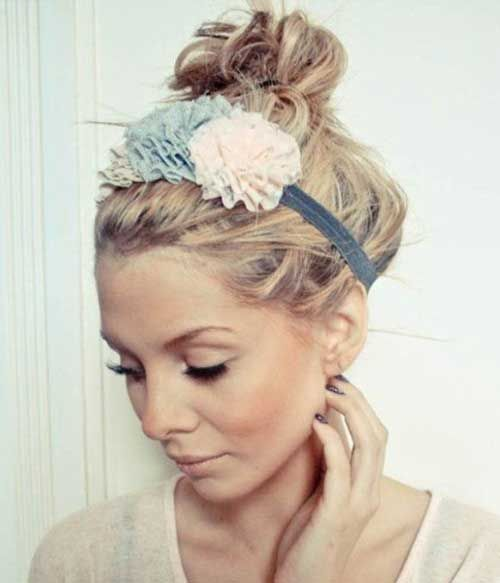styles of hair for hair buns with headband for cut hair 8186