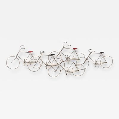 Curtis Jere Bicycles Wall Sculpture by Curtis  Jere