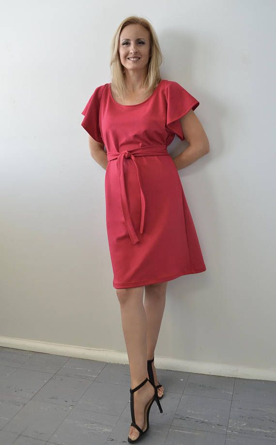 Sexy Red Dress Comfortable stylish for work after 5