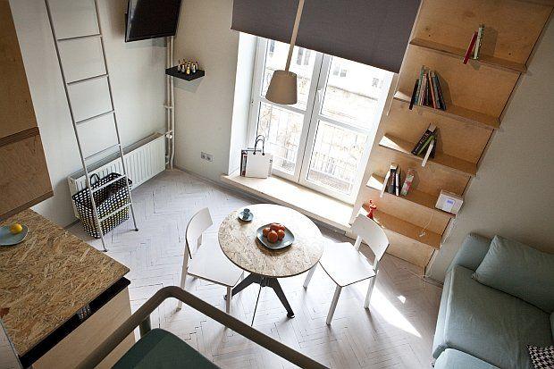 Zdjęcie numer 12 w galerii - Kawalerka w centrum Warszawy, czyli bardzo mieszkanie pełne świetnych rozwiązań
