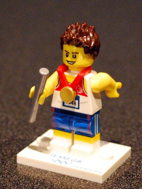 Lego Relay Runner Minifigure, Team GB (2012)