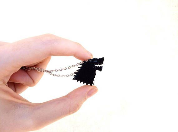 Game of Thrones House Stark Direwolf Sigil Necklace #ad