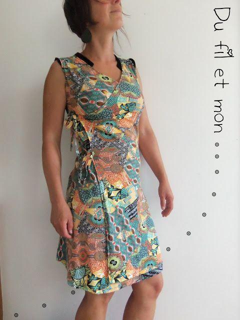 Conseils et explications pour réaliser une robe porte-feuille en jersey ou élasthanne à partir d'un haut et d'une jupe
