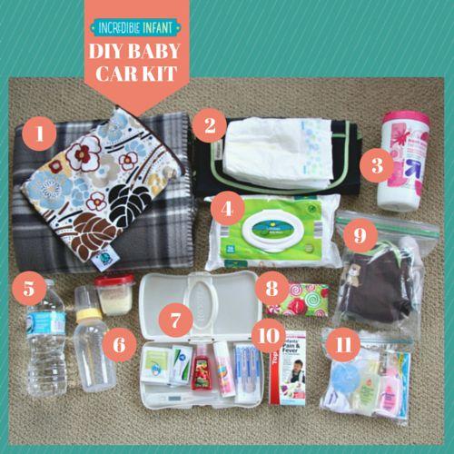 DIY Baby Car Kit supplies