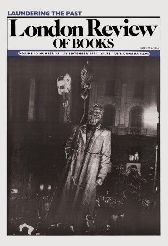 London Review of Books. 12 September 1991.