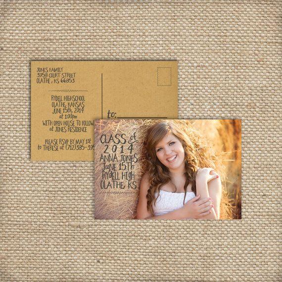 60 best Invitations images – Graduation Postcard Invitations