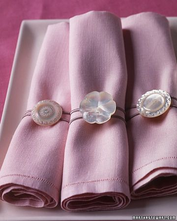 Love! Antique button napkin rings.