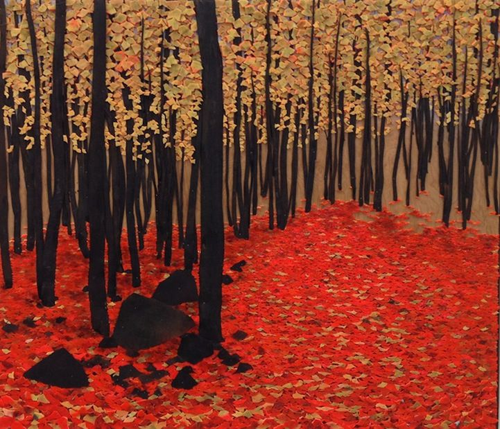 Lovely Landscapes Made from Safety Cones: Safety Cones, Fall Art, Shuttleworth Ethnomorph, Lana Shuttleworth, Art Inspiration, Shuttleworth Art, Art Products, Autumn Art, Ethnomorph Landscape
