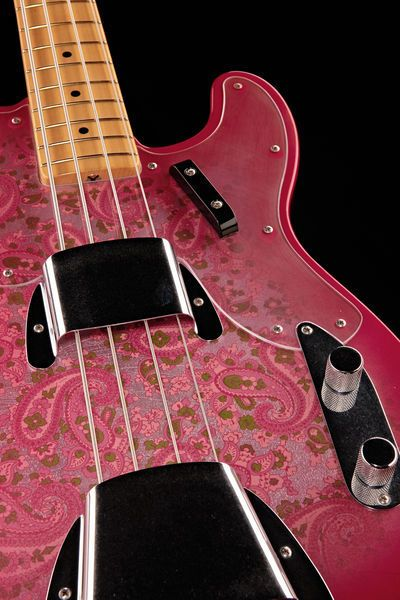 Fender 68 Paisley Tele Bass CC MBJS, Bass Guitar, masterbuilt by Jason Smith - available --> Thomann #pink #guitar #paisley #telecaster
