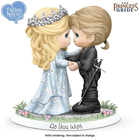 "Escape to a Precious Moments tale of ""twue wuv"" with our first-ever Princess Bride figurine!"