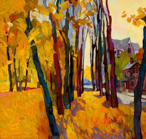 therapyinminneapolis:  Reminiscence by Larisa AukonTrees Art, Landscapes Art, Artists Iii, Inspiration Artists, Larisa Aukon, Artsy Fartsy, Aukon Larisa, Trees Landscapes, Aukon Painting