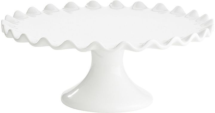 Pier 1 Imports White Scalloped Cake Stands