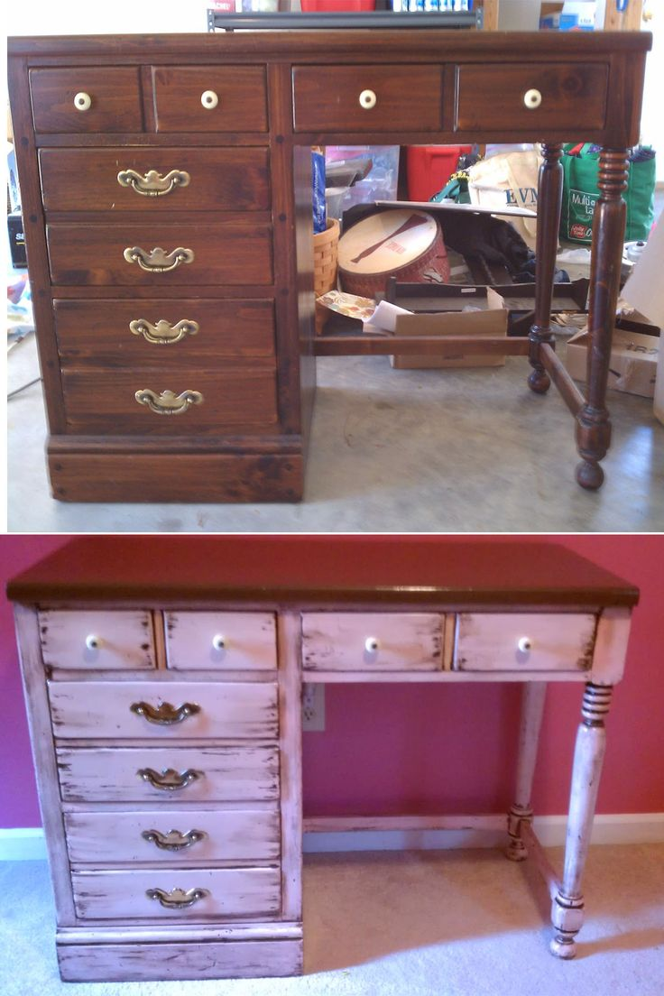 images about Refurbish Desk Ideas on Pinterest Refinished