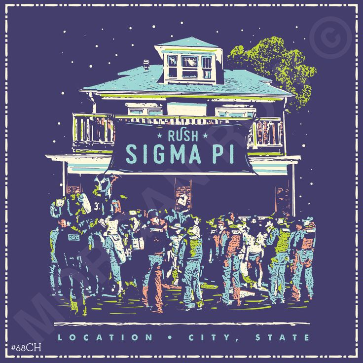 Morgan Row | Greek Tee Shirts | Greek Tanks | Custom Apparel Design | Custom Greek Apparel | Fraternity Tee Shirts | Fraternity Tanks | Fraternity Shirt Designs  | Fraternity Shirt Ideas | Greek Life | Hand Drawn | Fraternity | Brotherhood | Chapter Rush | Sigma Pi | Greek House