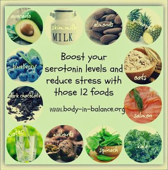 foods that boost serotonin levels - helps to reduce stress- working a full time and two part time jobs a bitch gets stressed.