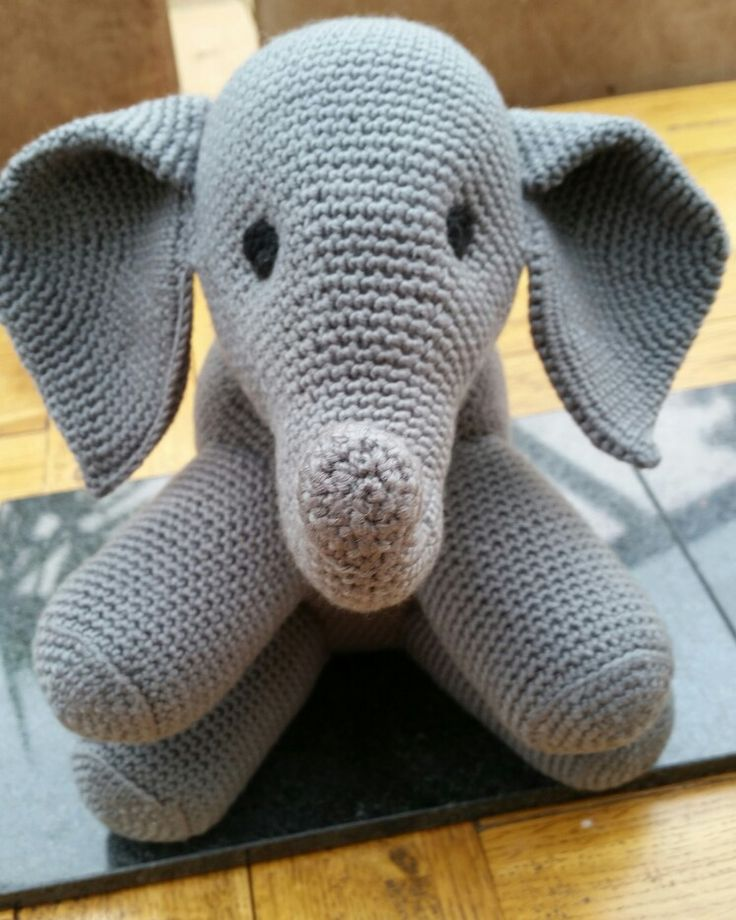Crocheted elephant for luke.!