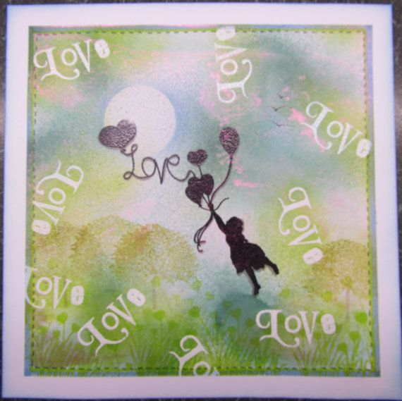 Handmade Love card  For Mum Mother's Day Sister by CraftyMrsPanky