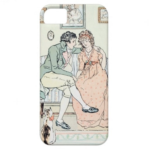 An iPhone 5 case with a C.E. Brock illustration from Sense and Sensibility #JaneAusten