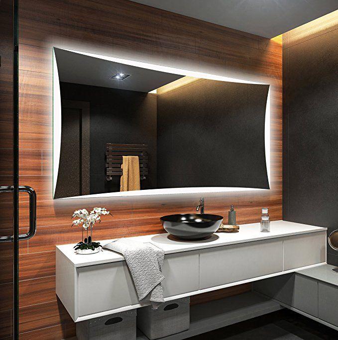 Espejo De Bano Moderno E Iluminado Fabricado A Medida Con Marco
