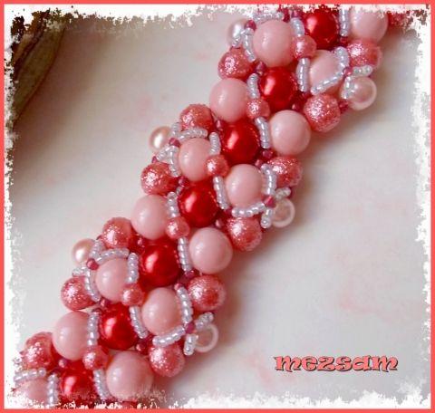 Tekla karkötő rózsaszín-piros színben