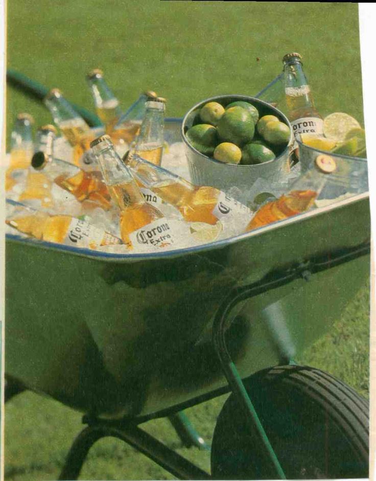 Summer beverage serving idea