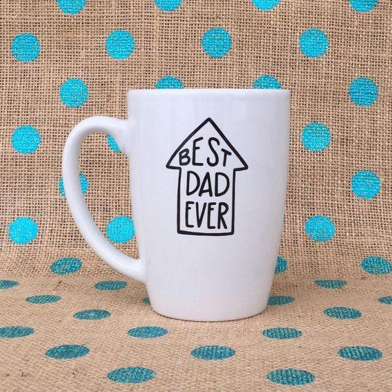 Funny Dad Coffee Mug - Best Dad Ever Coffee Mug - Hand Painted Coffee Mug…