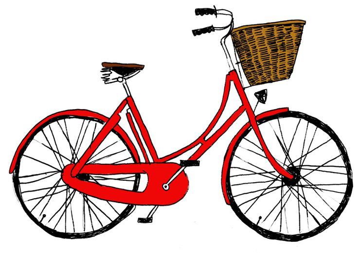 #yearofcolor bike illustration by katie evans