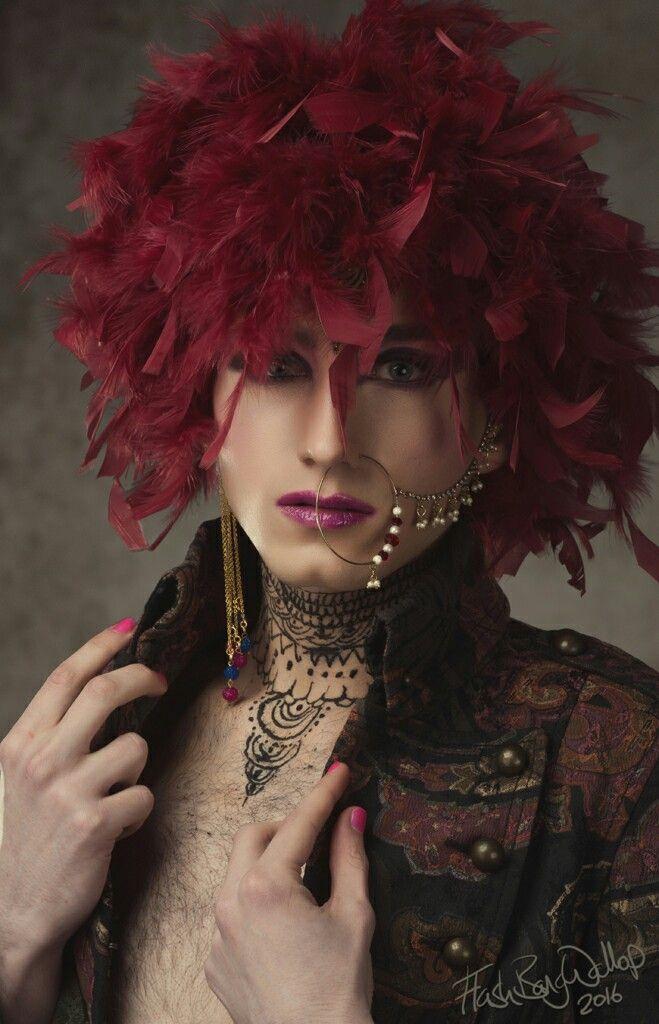 Indian Transvestite creative makeup shoot