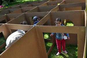 obstacle course ideas | Also found on the Pinterest site: Cardboard Obstacle Course