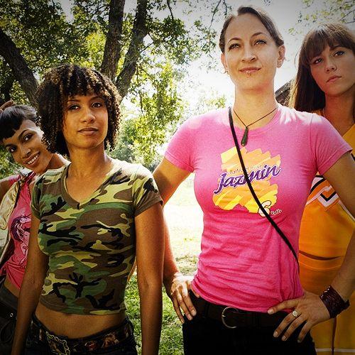 Abernathy (Rosario Dawson), Kim (Tracie Thoms), Zoe (Zoe Bell) and Lee (Mary Elizabeth Winstead) Death Proof