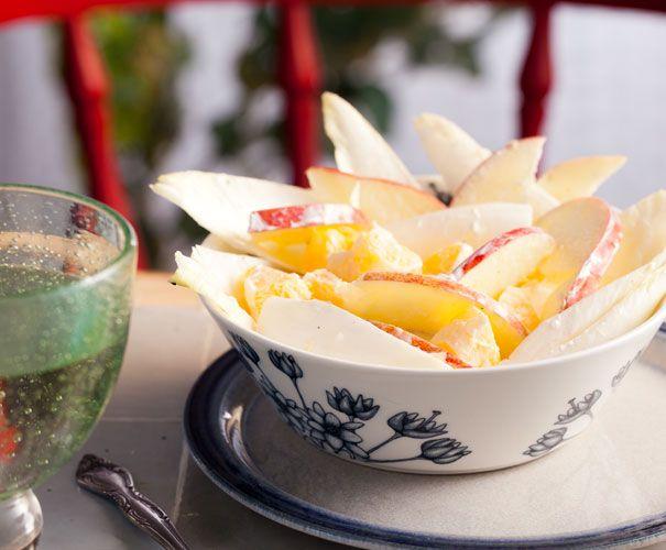Recept: Witlofsalade met appel en sinaasappel - Gezond eten