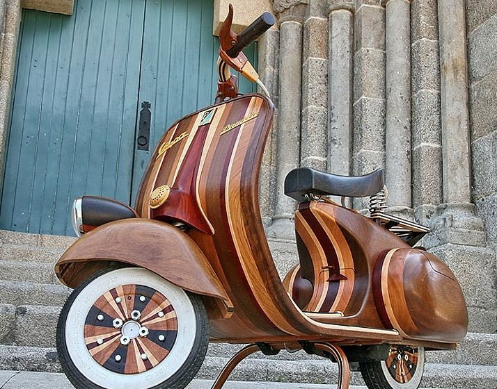 """Wooden Vespa 