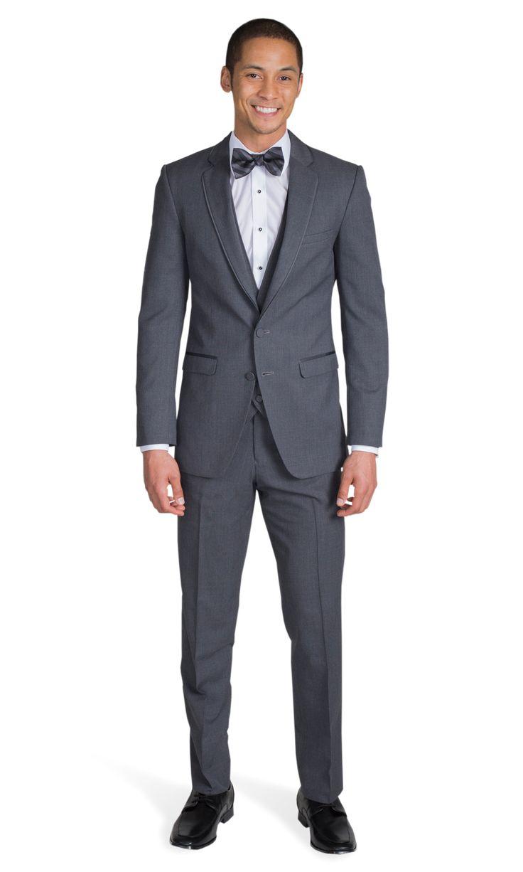 Charcoal Gray Notch Lapel Suit