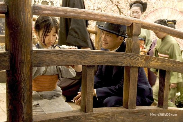 ONE OF MY FAVORITE SCENES... Memoirs of a Geisha - Publicity still of Ken Watanabe, Samantha Futerman & Suzuka Ohgo