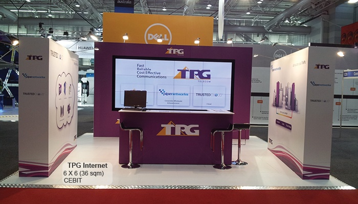 Exhibition Stand Wall Covering : Custom exhibition trade show stand for tpg internet
