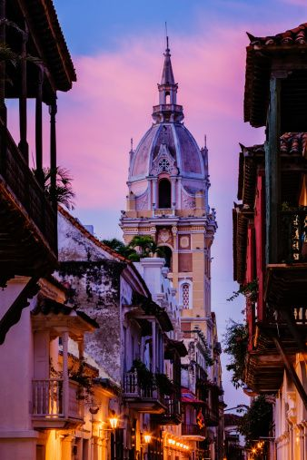 Cartagena Cathedral at dawn, Colombia by  Jeremy Woodhouse