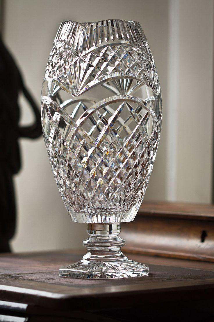 "12"" Laurel Footed Vase"