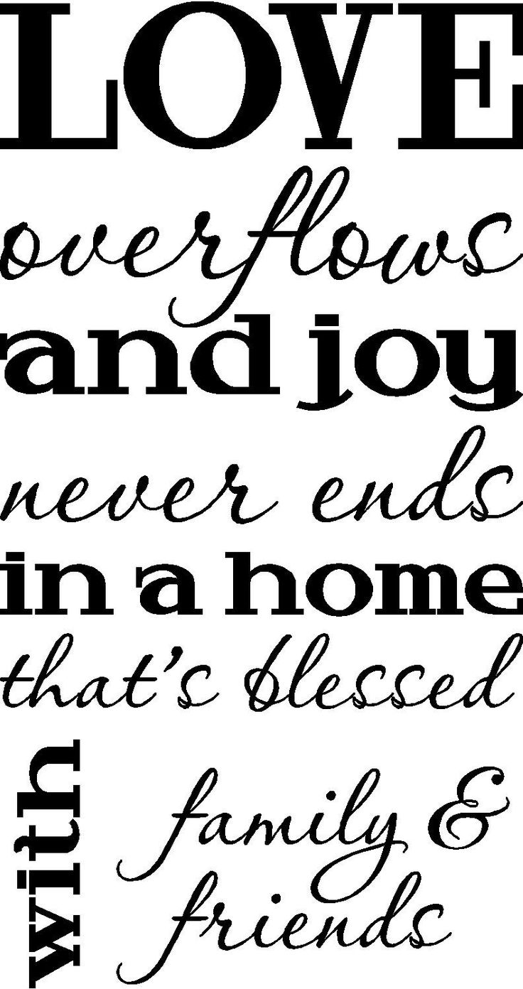 Love overflows and joy never ends in a home that's blessed ...