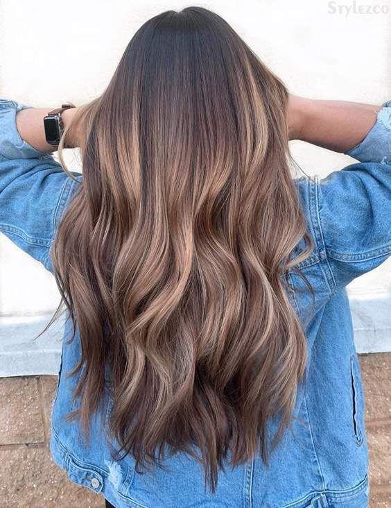 Geschmolzene Schokoladen-Karamell-Haarfarbe für 2019 – #geschmolzene #haarfarbe…  # frisuren