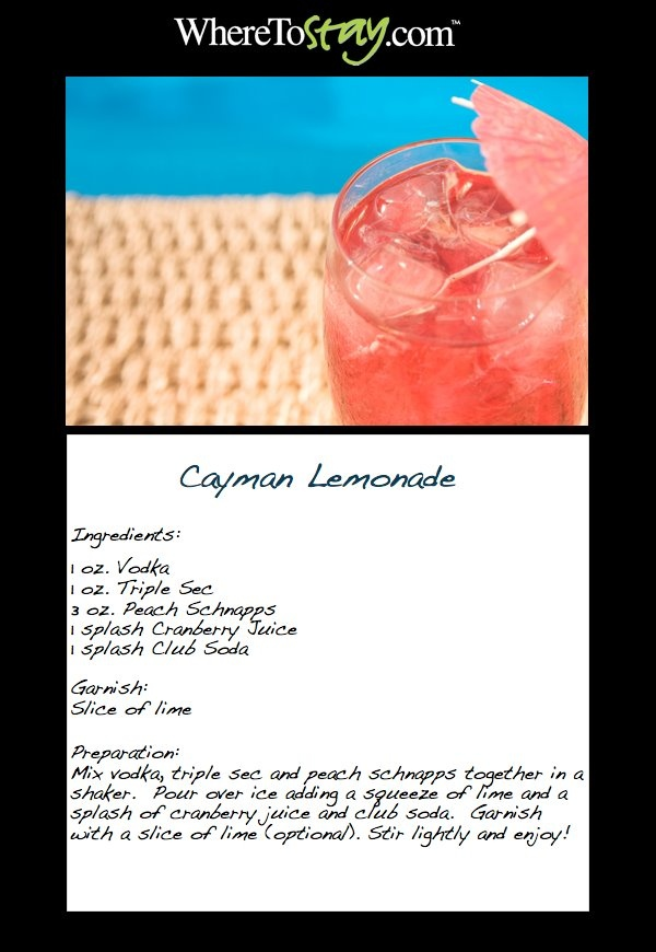 """Today we are giving a little """"shout out"""" to the #Cayman Islands with this delicious recipe for Cayman #Lemonade! This delectable treat is served at several bars and restaurants throughout the Cayman Islands and is the perfect refresher for today's #drink!"""
