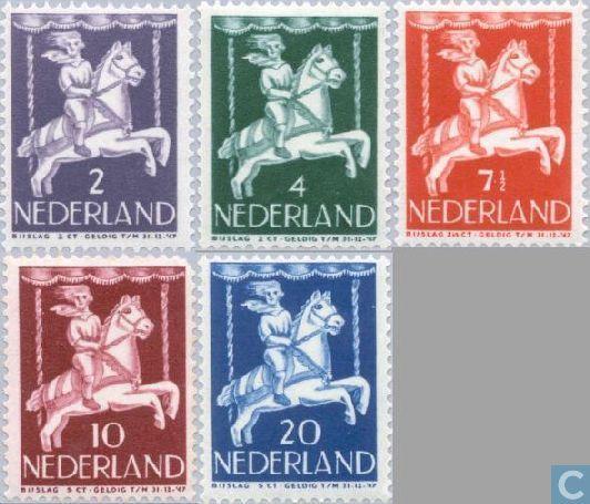 Postzegels - Nederland - Kinderzegels 1946