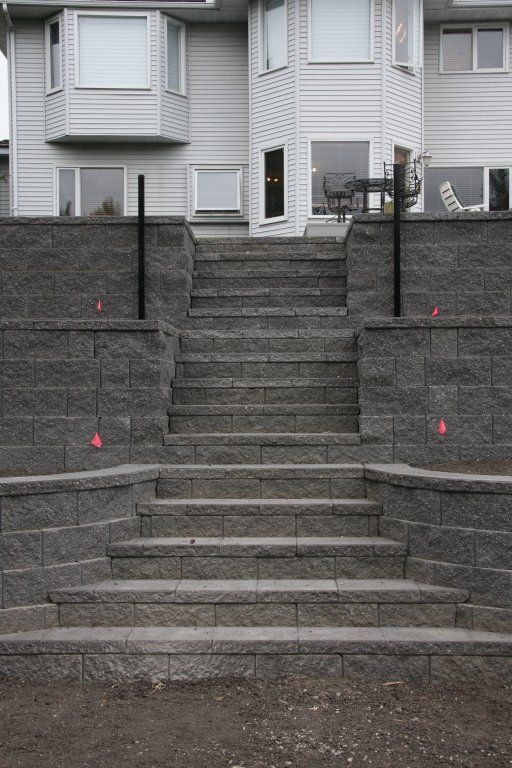 Image Detail For Block Retaining Wall Stairs Through
