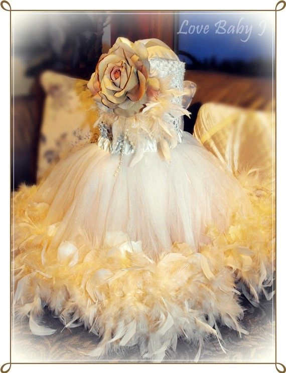 Feather tutu dress. This may very well be the most darling thing ever!